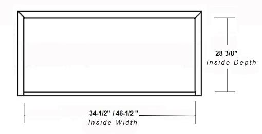 SY-WICH ISLAND HOOD (STANDARD) inside dimensions