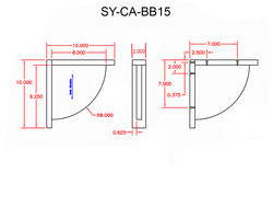 SY-CA-BB15 Line Drawing
