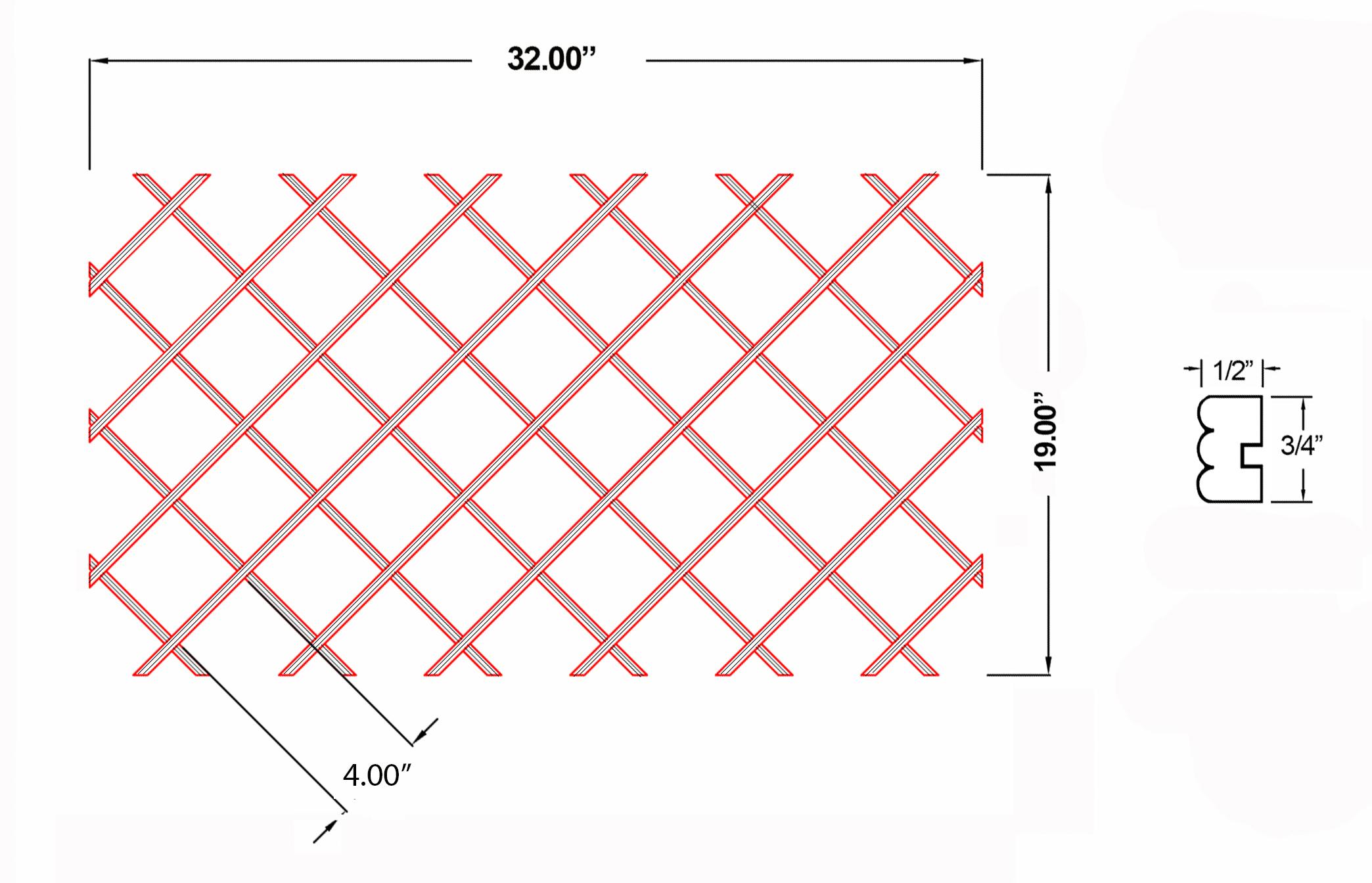 W-WR-BD19X32 Line Drawing