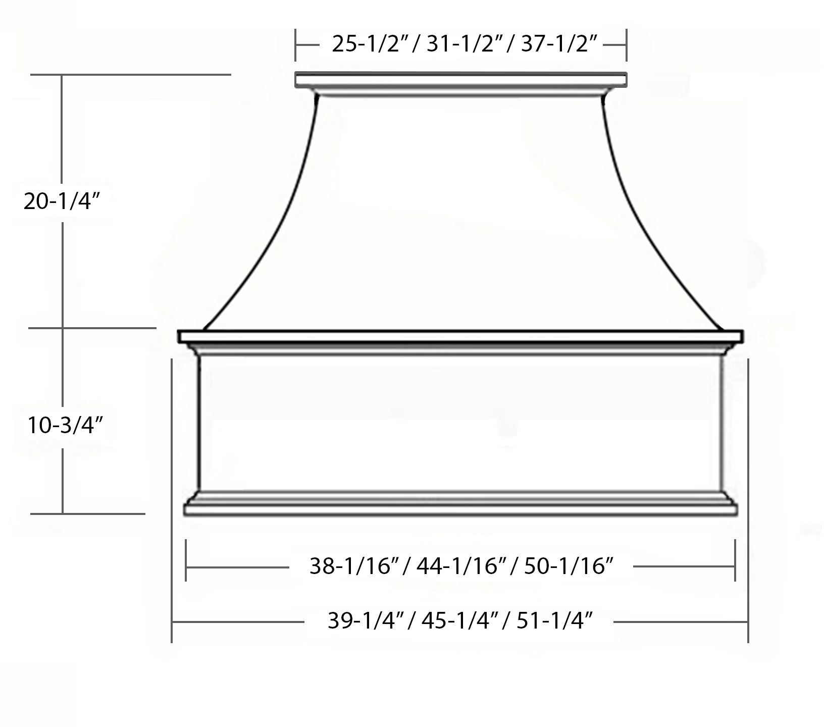 SY-WCVS GOURMET CHIMNEY HOOD (front view)