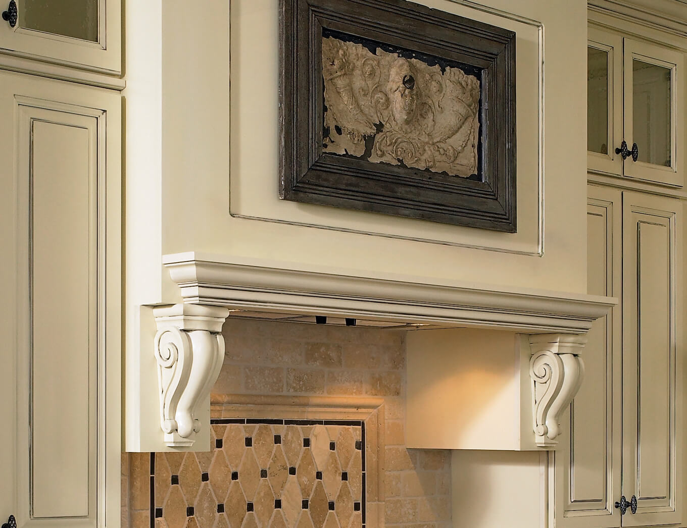 Castlewood-Classic-Corbel-SY-CA-105-in-Mantel-Hood-Application