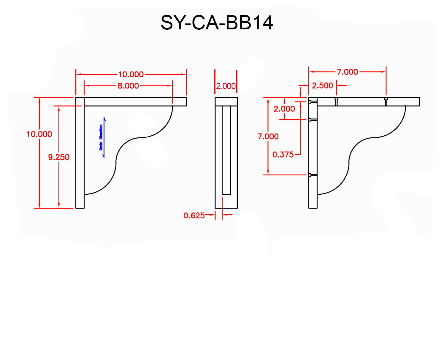 SY-CA-BB14 Line Drawing