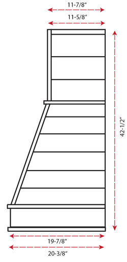 Castlewood Shiplap Chimney Hood SY-WCSL (30,36,42,48) - (side view)