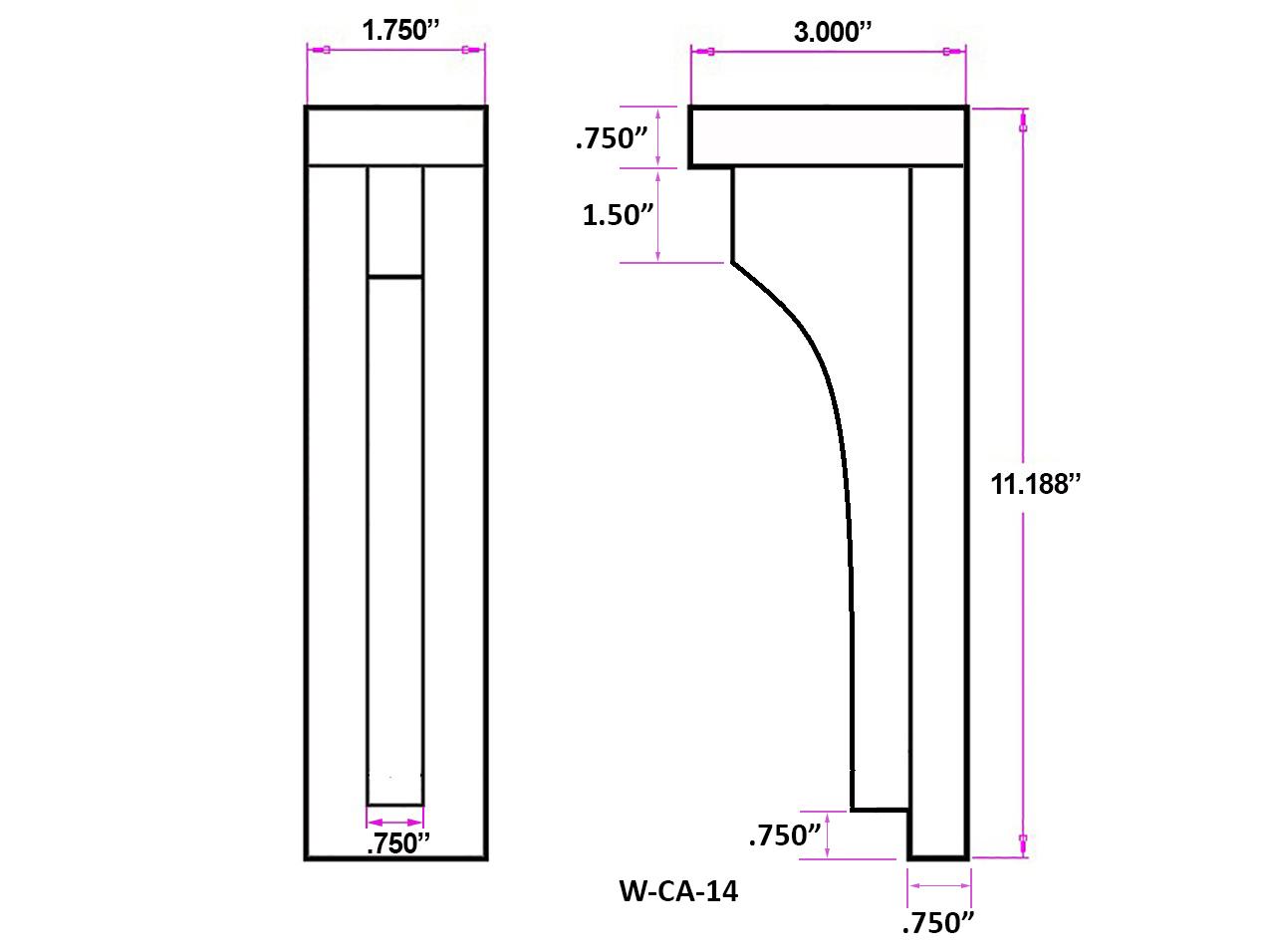 W-CA-14 Linedrawing