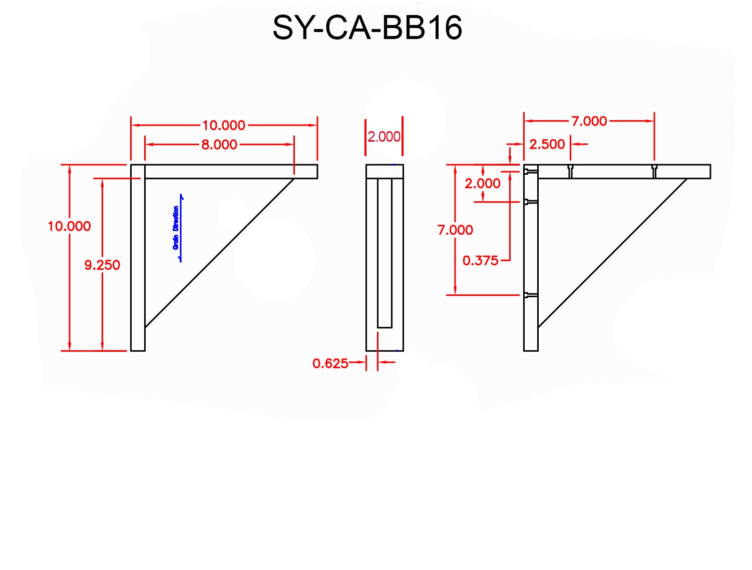 SY-CA-BB16 Line Drawing