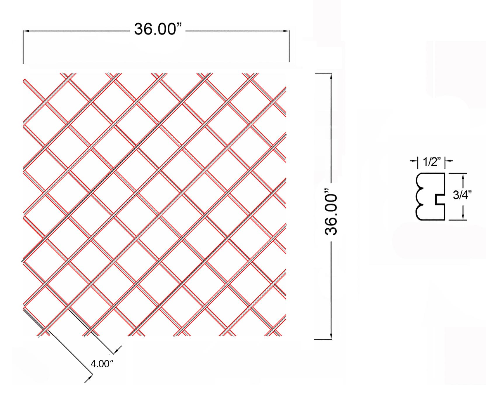 W-WR-BD36X36 Line Drawing