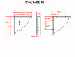 SY-CA-BB18 Line Drawing
