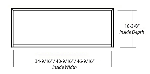 SY-WCVH EPICUREAN RANGE HOOD (inside dimension)