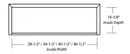 SY-WCH WALL HOOD (STANDARD) inside dimensions