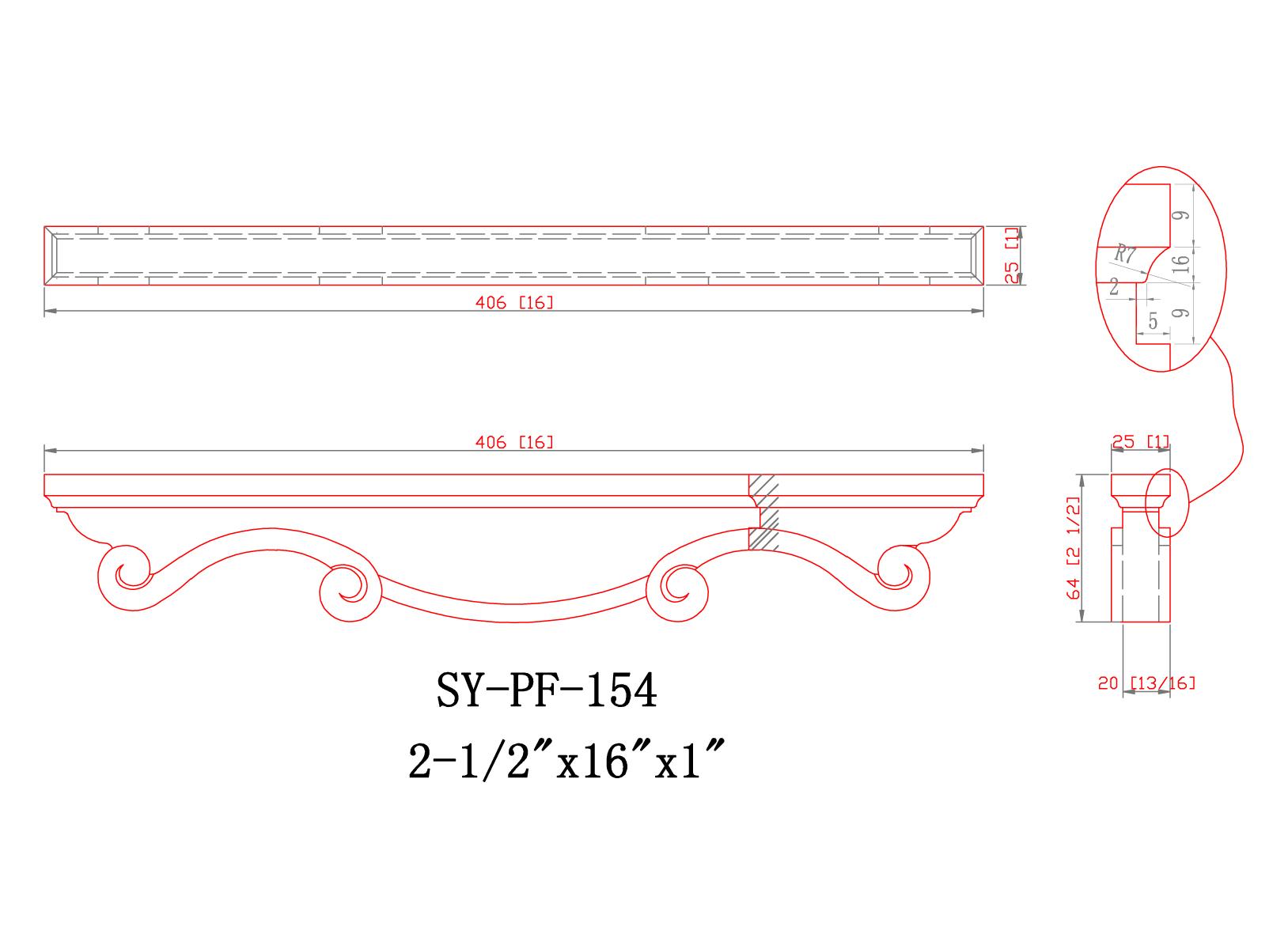 SY-PF-154 Linedrawing