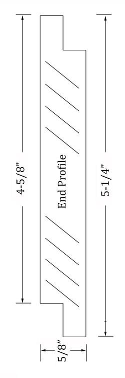 Shiplap End profile