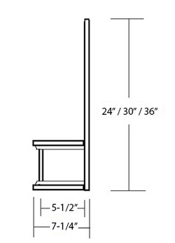 SY-JSVHF MANTLE STYLE WOOD RANGE HOOD FRONT WITH STRAIGHT VALANCE (side view)