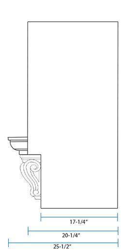 SY-CMH Classic Mantel Hood (side view)