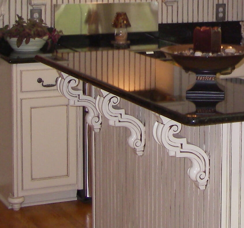 Castlewood Traditional Corbel SY-CA-10-O in Countertop application