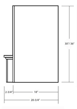 SY-WMHRP 48 MANTLE HOOD WITH ARCHED RAISED PANEL VALANCE (side view)