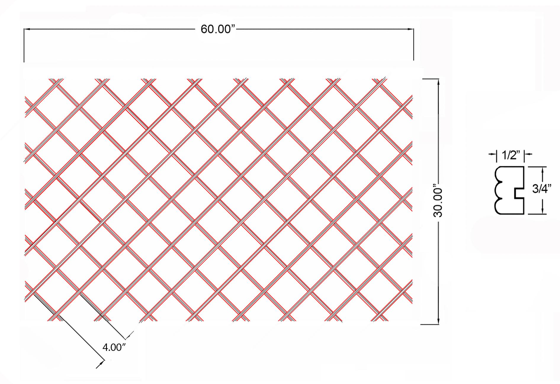 W-WR-BD30X60 Line Drawing