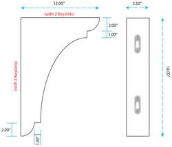SY-CA-144 Range Hood Corbel - vertical mount