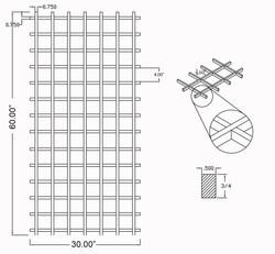 W-WR-SK-30X60 Line Drawing