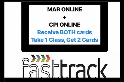 Switch to MAB + CPI Online FastTrack