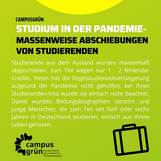 CAMPUSGRÜN- STUDIUM IN DER PANDEMIE