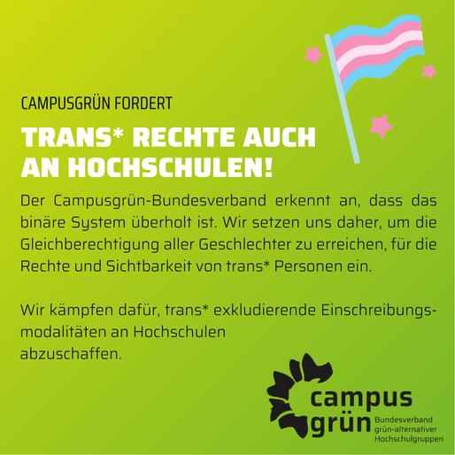 Trans* Rechte auch an Hochschulen