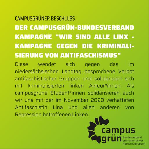 """Unterstützung der Kampagne """"Wir sind alle LinX"""""""