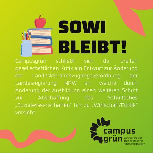 Zur geplanten Ersetzung des Schulfaches Sozialwissenschaften durch Wirtschaft/Politik in NRW