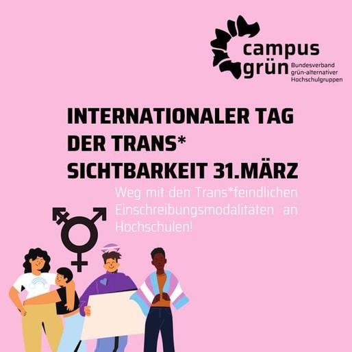 Zum Internationalen Tag der Trans* Sichtbarkeit
