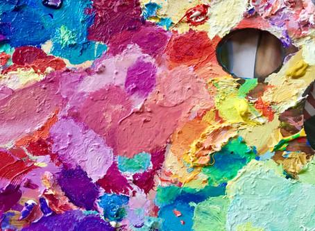 Mezcla de colores en la paleta!!!