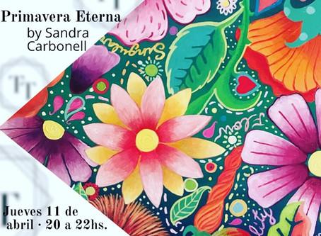 Cartel oficial exposición Primavera eterna, os esperamos.