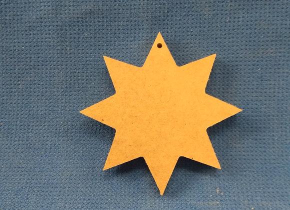 Α8 Στολιδι  Αστερι 8 ακτινες 9εκ υψος