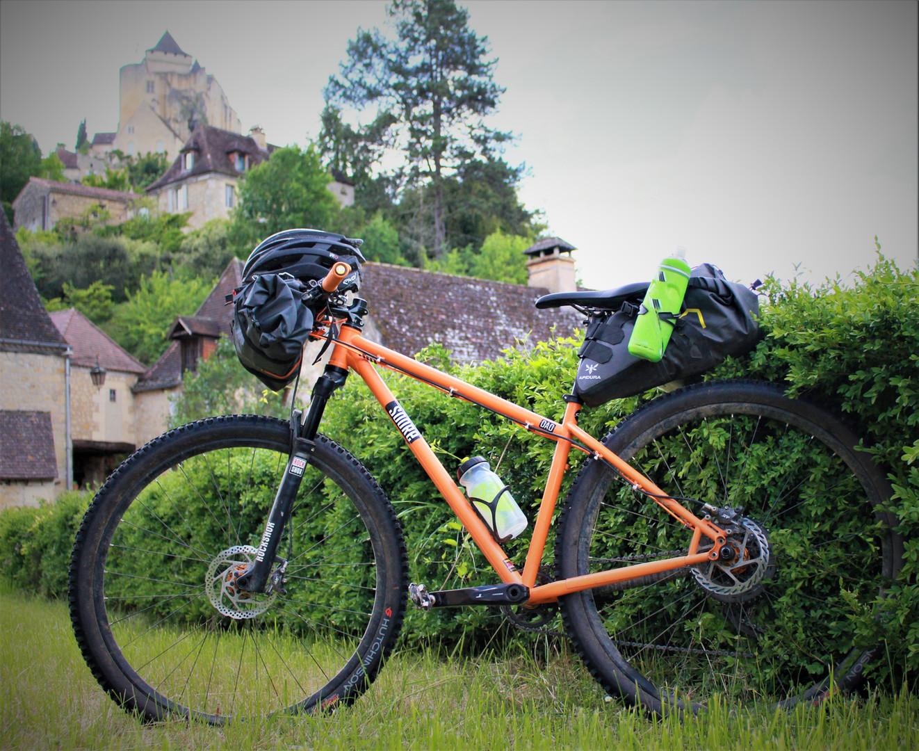 bike packing adventure in dordogne france