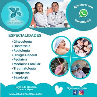 ESPECIALIDADES +Ginecología +Obstetricia +Radiología +Pediatría +Medicina Familiar +Trauma