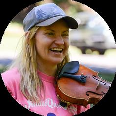 fiddle teacher at a workshop on curriculum
