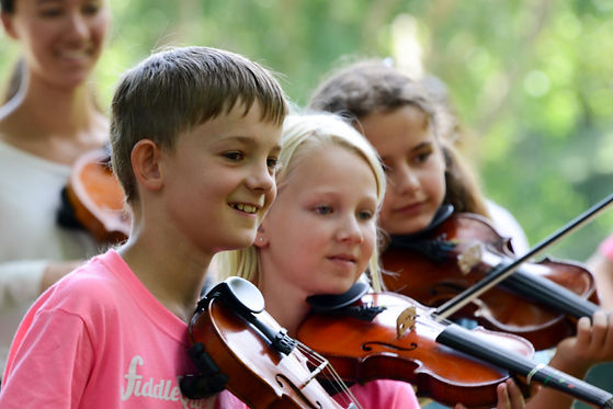 fiddle students playing together socially