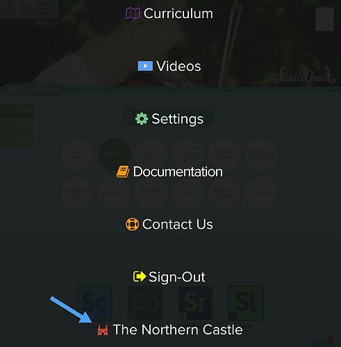 FiddleQuest site menu