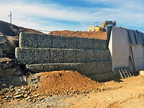 Gabions were installed to help with erosion and to help support a concrete wall in Karratha, WA