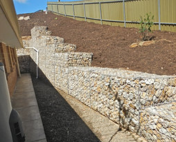 Residential domestic gabions adelaide prospect contractors for Retaining wall contractors adelaide