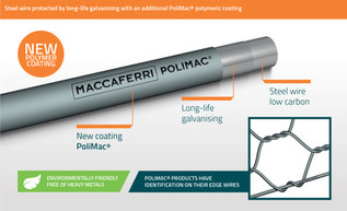 Introducing PoliMac® - The Most Durable Gabion Wire Coating!