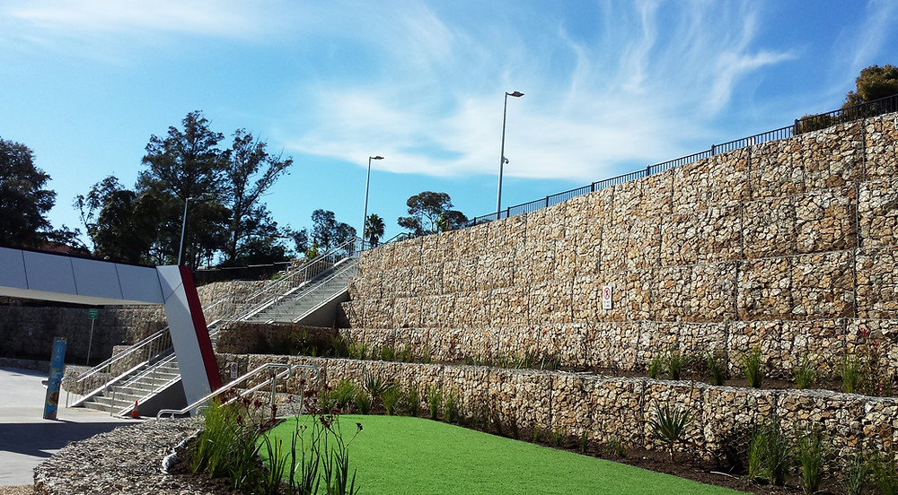 ARC Campbelltown Gabion Walls