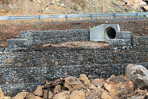 Gabions were installed to help with flood recovery in Halls Gap, Victoria