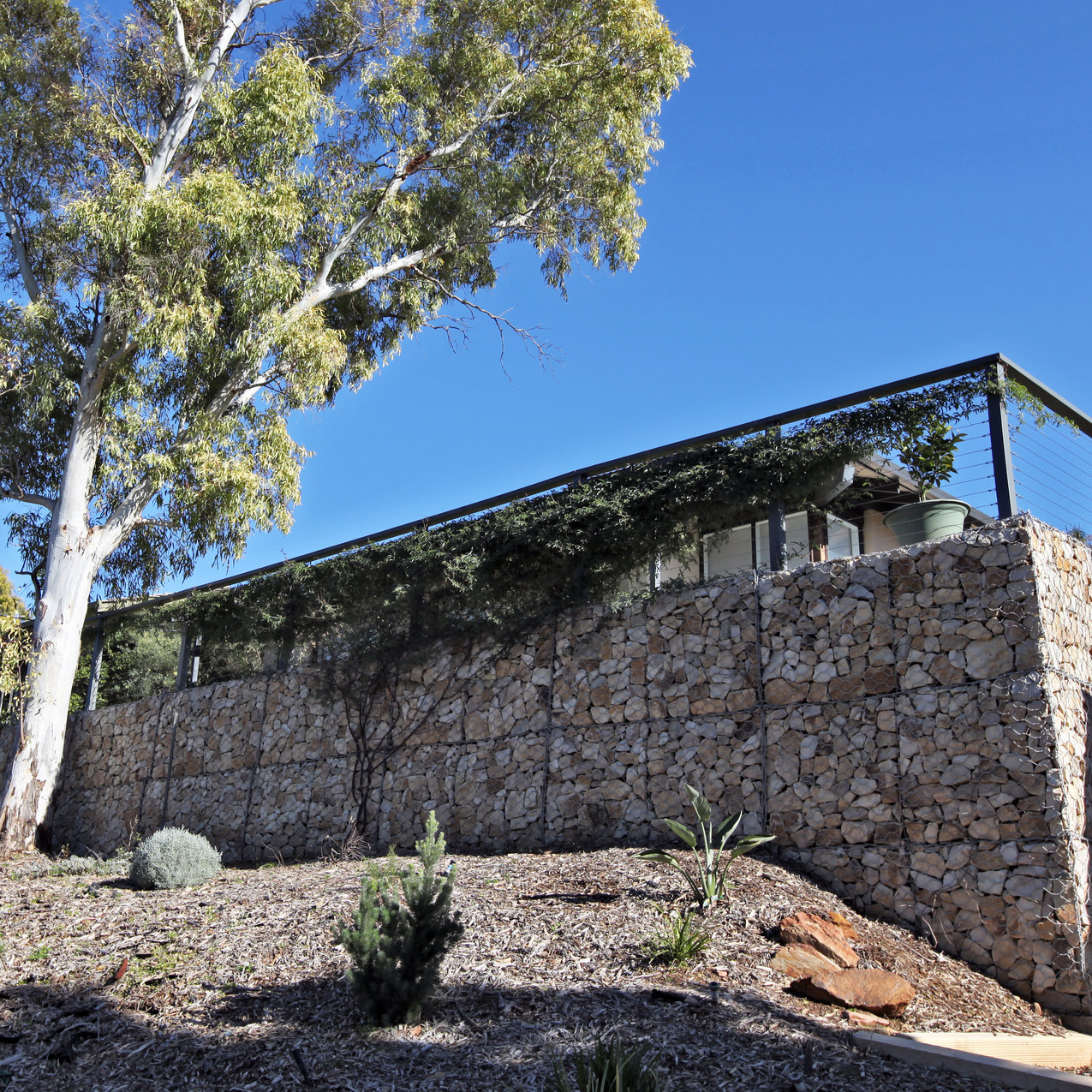 Alpine Road Gabion Retaining Wall