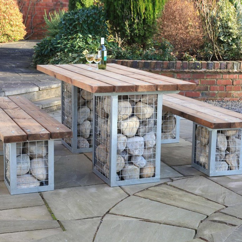 Gabion Picnic Table