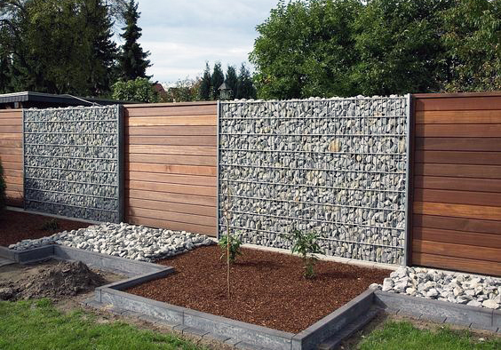 Gabion and Timber panels