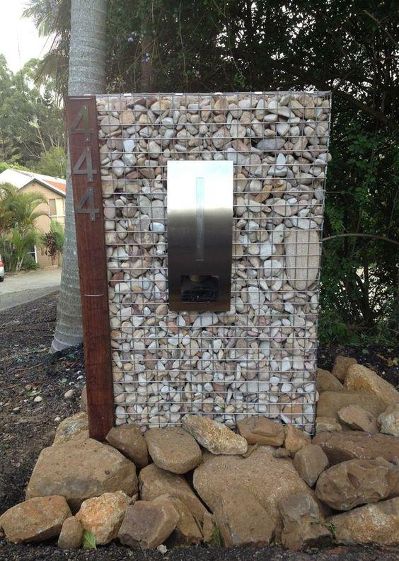 Gabion Letterbox Pillar Idea