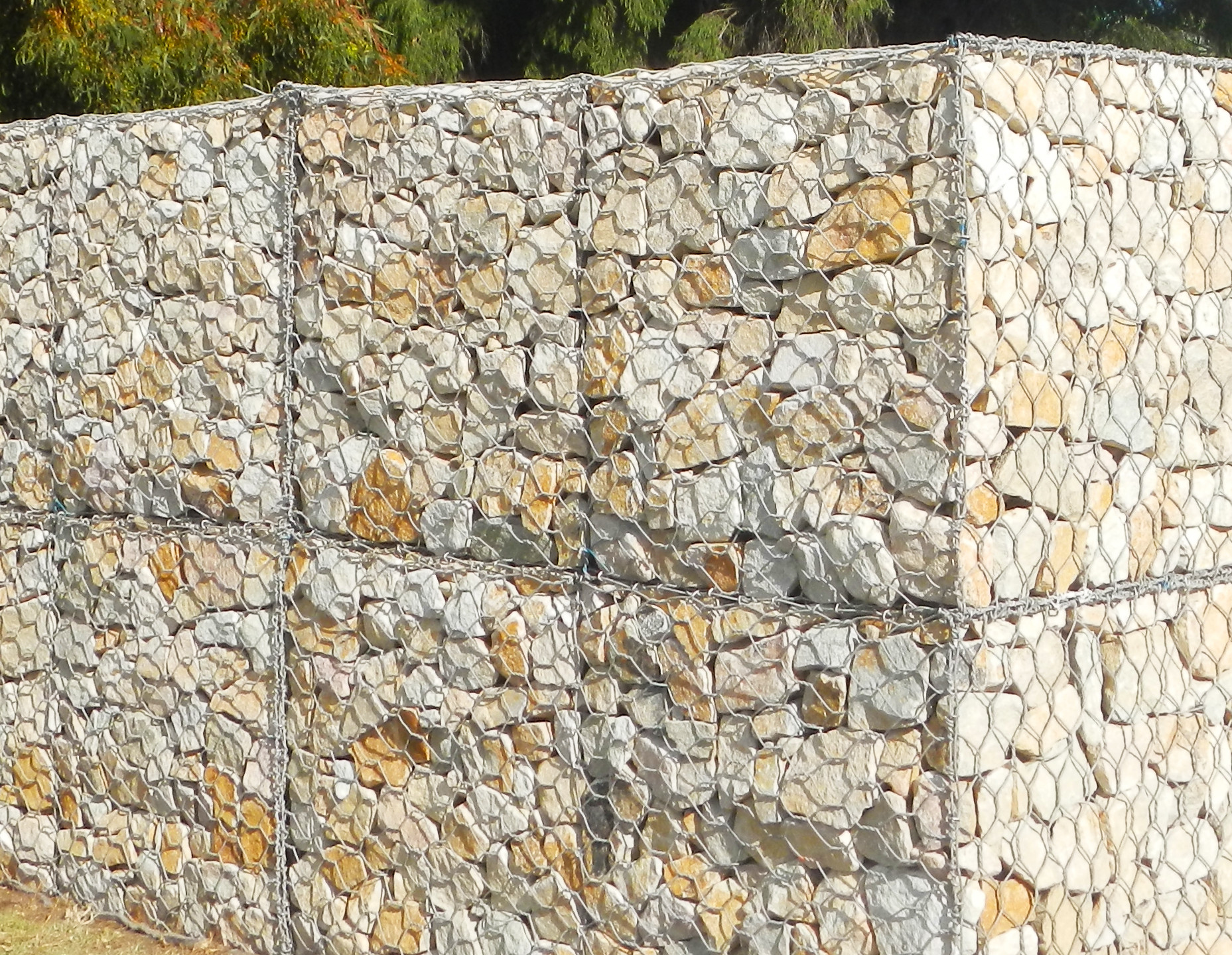Finished hand faced Gabion Wall