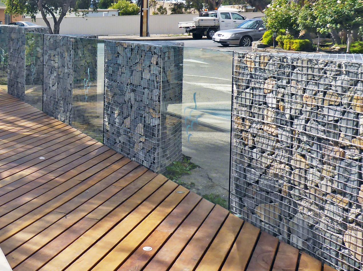 Rockweld Gabion & Glass Pool Fence