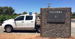 Yalumba Rockweld Gabion Signage