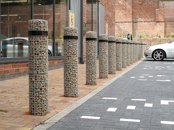 Gabion Car Park Bollards