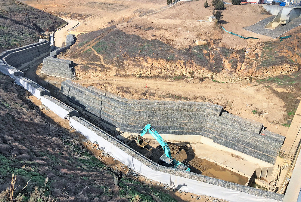 Lower Molonglo Dam Terramesh Gabions